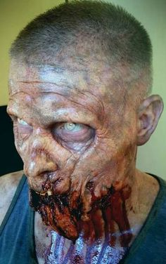 zombie makeup #halloween #sfx #theatrical #horror #makeup
