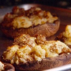 Grilled and Stuffed Portobello Mushrooms
