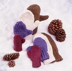 Image of 2-needle mittens