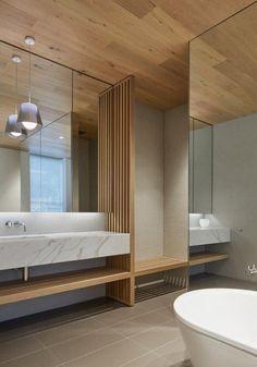 "Inarc completes ""efficient, yet extravagant"" Links Courtyard House on Australia's Mornington Peninsula Zen Bathroom, Bathroom Toilets, Bathroom Interior, Modern Bathroom, Bathroom Ideas, Concrete Bathroom, Minimalist Bathroom, Washroom, Bathroom Faucets"