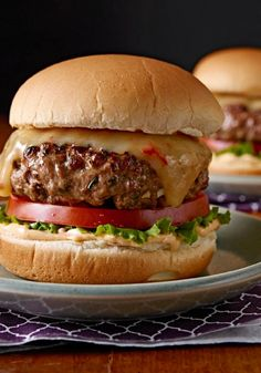 Gourmet Chipotle Burgers with Melted Cheese