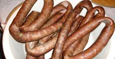 Domogród: Domestic sausage without preservatives How To Make Sausage, Food To Make, Cookbook Recipes, Cooking Recipes, New Recipes, Home Made Sausage, China Food, Polish Recipes, Smoking Meat