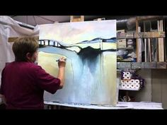 "▶ The Making of an Abstract Painting, Demo #6 ""Skywalk"" - YouTube"