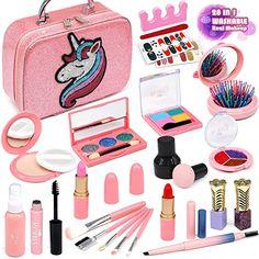 Girls Makeup Set, Little Girl Makeup Kit, Makeup Kit For Kids, Kids Makeup, Fake Makeup, Makeup Case, Baby Girl Toys, Toys For Girls, Makeup Toys