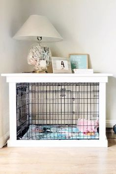 This DIY Dog Crate Furniture Piece Will Transform Your Living Room. This DIY Dog Crate Furniture Piece Is Easy to Make and Surprisingly Chic. The crown jewel in my living room is the crate for my pup that looks like a piece of furniture. My Living Room, Living Room Interior, Small Living, Diy Living Room Furniture, Diy Furniture Easy, Furniture Ideas, Vintage Furniture, Diy Living Room Decor, Upcycled Furniture