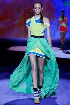 Dsquared² Spring/Summer 2016: Why on earth would you tie-dye vage-centrically? Let's make a vagina the focal point! Um...let's not. It was basically swimwear with holes in it paired with the afore...