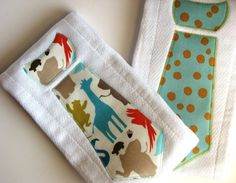 necktie burp clothes. It's nice to see some super cute boy stuff :)