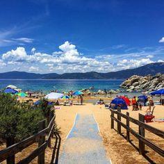Sand Harbor State Beach, Lake Tahoe, Nevada via @goldenstatetravel