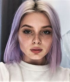 Soft ombre lilac hair dye by polusladkoye - #haircolor #hairdye #hairstyle