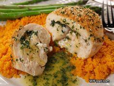 Chicken Kiev Rollups | mrfood.com