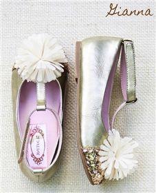 Joyfolie - Gianna Gold Glitter Toe Shoes