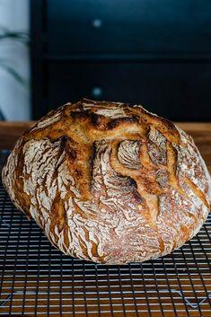 Simple country bread over night - rezepte - Homemade Bread Easy Cake Recipes, Pumpkin Recipes, Easy Dinner Recipes, Bread Recipes, Baking Recipes, Easy Meals, Pizza Recipes, Pain Artisanal, German Bread