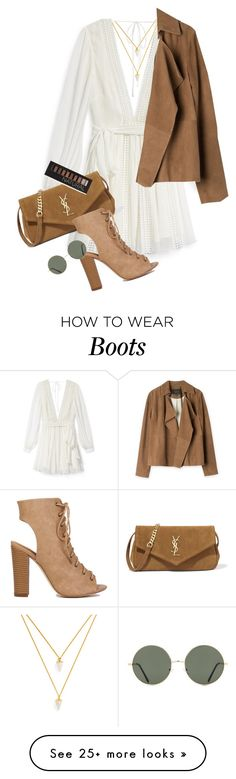 """70s"" by dancingdirty on Polyvore featuring Rebecca Minkoff, BaubleBar, Yves Saint Laurent and Forever 21"