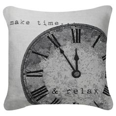 Complete your cosy reading nook or kitchen bench with this cushion, featuring a typographical design. Product: Cushion