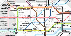 The delightful anagram tube map. 17 London Underground Maps You Never Knew You Needed