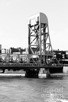 NYC Industrial Bridge An old bridge and tower creates an interesting industrial image, not normally associated with New York City.