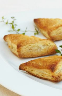 Potato and Goat Cheese Triangles  Use store bought puff pastry to make these potato and goat cheese triangles. A perfect recipe for any event.