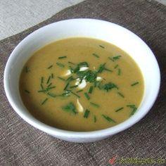 Fokhagymás batáta leves