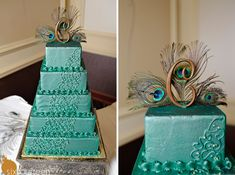 wedding cake! peacock
