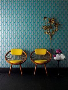 Risultati immagini per mustard turquoise interior