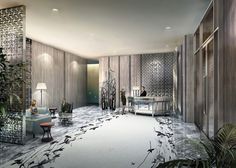 The international acclaimed architecture and interior design firm Yabu Pushelberg has completed the interiors for the Four Seasons New York Downtown. The top interior designers are applauded for the finest hotel projects around the world - Take a look at… Top Interior Designers, Shop Interior Design, Grand Hall, Yabu Pushelberg, Lobby Interior, Lobby Design, Shop House Plans, Hotel Decor, Thing 1