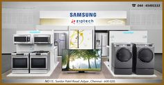 There are plenty of reasons why you should switch to Samsung and never look back. Samsung helps you to discover a wide range of Home appliances with cutting-edge technology including TVs, Home Appliances and smart phones etc.  All Samsung products are available under one roof – Ziptech Enterprises, Adyar. Call us for hassle free shopping @ 044-45493333