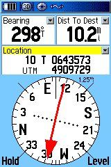 GPS compass: Updating your GPS software is quick and easy.