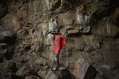 Week of May 17-23, 2014 A young Maasai man in Kenya blows a horn during a tutorial led by an elder at the Suswa caves on Thursday. Suswa is a sacred place for the Maasai community and is made up of an extinct volcano and cave systems. Carl de Souza/Agence France-Presse/Getty Images