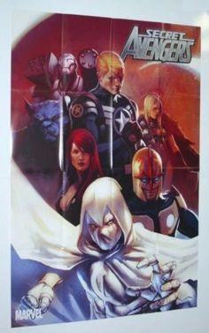 Secret Avengers 36 by 24 inch Marvel Universe comic book shop promotional promo poster (3 by 2 feet):Nova/Moon Knight/Black Widow/Valkyrie/War Machine/The Beast, http://www.amazon.com/dp/B00B5N9IJU/ref=cm_sw_r_pi_awd_-EIcsb0MFXQ6V