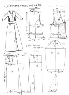 ... Sewing Lessons, Sewing Hacks, Korean Traditional, Traditional Outfits, Clothing Patterns, Dress Patterns, Sewing Clothes, Doll Clothes, Sewing Paterns
