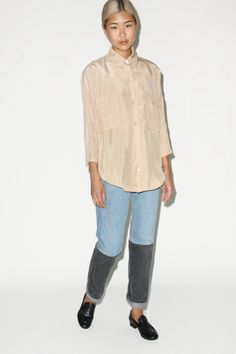 Objects Without Meaning Blouse and B Sides Halfsies Jeans #8