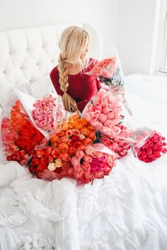 Bed of roses by blogger Amber Fillerup Clark
