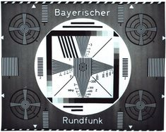 Geometric and marvelous: German Television Test Patterns. Radios, Sunday Readings, Golden Hits, Anima Mundi, Test Image, Home History, Geometric Symbols, Old Logo, Tv Station