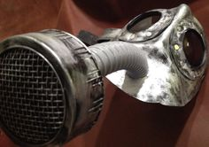 Steampunk leather gas mask  Halloween comicon by MonkeyDungeon, $134.99