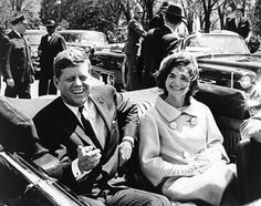 President Kennedy and Jacqueline Kennedy in the White House