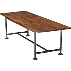 Love this as a kitchen/dining table that doubles as an office hearty table 36x104 in novogratz | CB2