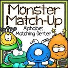 Monster Match-Up Freebie: Alphabet Matching Center This freebie includes capital letter cards, lowercase letter cards, initial sound picture cards...