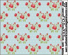 Rosas rojas en fondo celeste: Etiquetas para Candy Bar, para Imprimir Gratis.