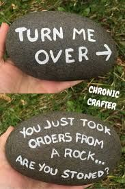 Image Result For Rock Painting Ideas For Music Funny Rock Painted Rocks Pranks
