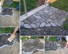 Gjutnät för betong. Skapa trädgårdsgångar snabbt med betongnät. Lär mer i vår webbutik www.wsochcompany.se  Create garden paths, quick, fun and easy with concrete
