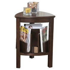 Larimer Triangle End Table Dark Brown - Signature Design by Ashley