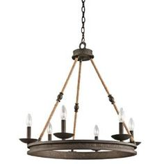 Check out the Kichler 43423OZ Kearn 6 Light Chandelier in Olde Bronze priced at $592.02 at Homeclick.com.