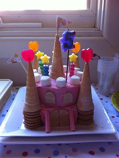 cute and easy idea for a really great castle cake!