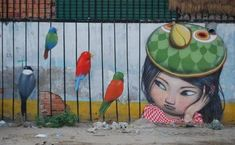 Seth is a french colorful street artist that has a global mission to mind-cover every continent with street art containing characters which look like the . Street Wall Art, Murals Street Art, Best Street Art, Amazing Street Art, Graffiti Art, Yarn Bombing, Phnom Penh, Photographie Street Art, Art Du Monde
