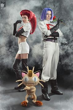 Team Rocket Pokemon Cosplay By: Ryoko-demon and Malro-doll From: Pokemon Couples Cosplay, Epic Cosplay, Amazing Cosplay, Cosplay Costumes, Cosplay Ideas, Costume Ideas, Costume Joker, Joker Cosplay, Anime Cosplay