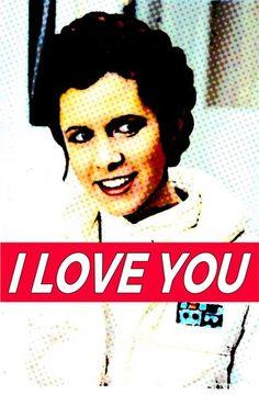 Art Princess Leia i love you Арт принцесса Лея Я люблю тебя