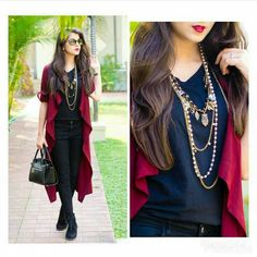 Trendy Long Shrug Outfit Ideas You'll Can Try This Year Fashion Wear, Girl Fashion, Fashion Dresses, Ladies Fashion, Fashion Terms, Fashion Design, Western Dresses, Western Outfits, Shrug For Dresses