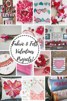 I adore Valentines projects and this list of fabric and felt Valentines projects is a list you must see. FULL of tutorials and projects that will brighten your Valentines Day.