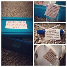 Graduation Gift - College Survival Kit   Pinterest Created