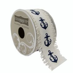 Blue anchor ribbon to craft with from michaels http www completely